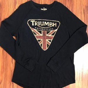 NWT Lucky Brand Triumph Motorcycle T Shirt